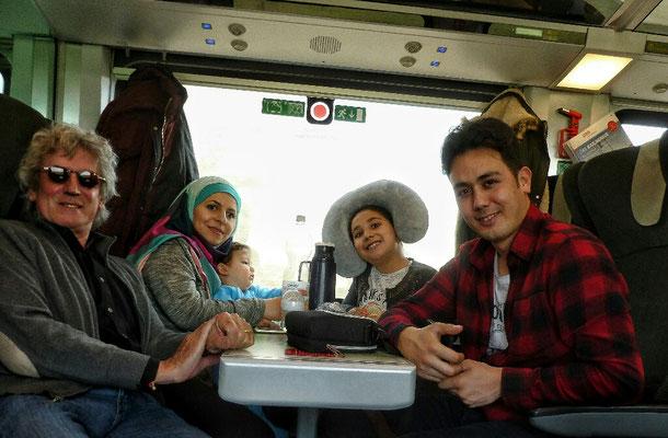 im Zug ab Klagenfurt