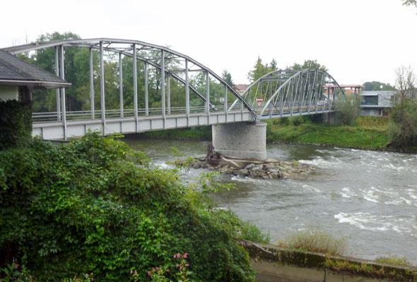 Murbrücke bei Mureck von Slowenien aus