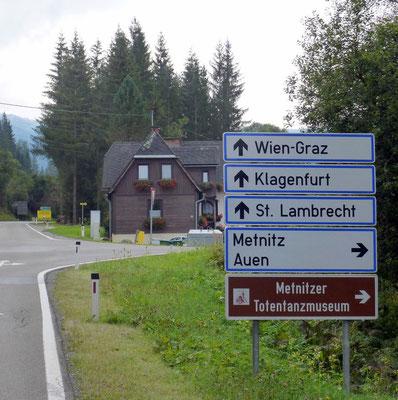 Abtweigung ins Metnitztal