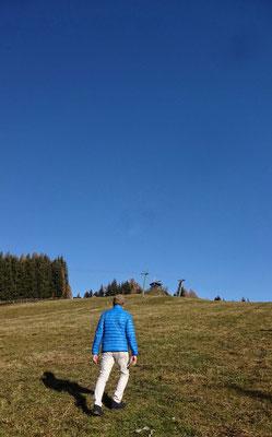 am Weg zum Gipfel