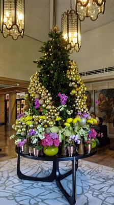 Weihnachtsbaum im Weingut Graff