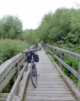 Radweg im Naturschutzreservat
