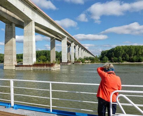 Die Donaubrücke bei Beska