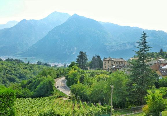 Blick von meinem Hotelzimmer auf Trento