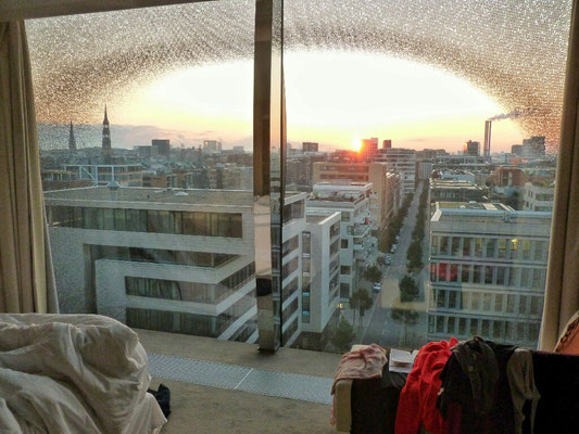 Morgenblick aus unserem Hotelzimmer