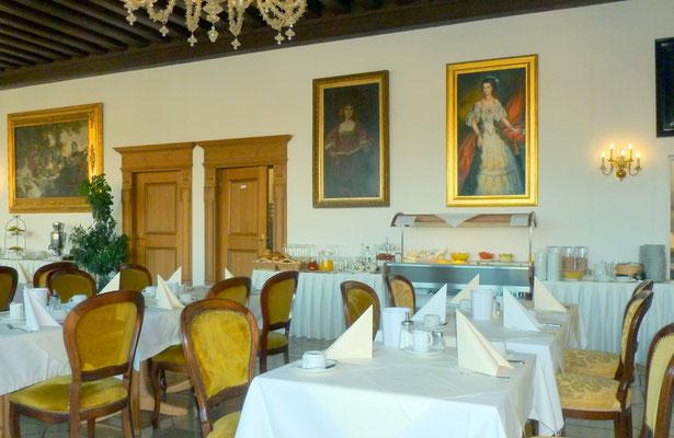 Frühstücksraum im Hotel Wilder Mann inPassau