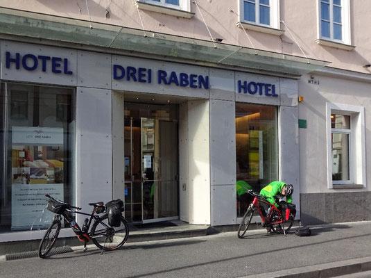 Abfahrt in Graz