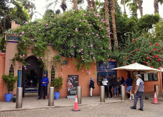 Eingang zum Majorelle Garten
