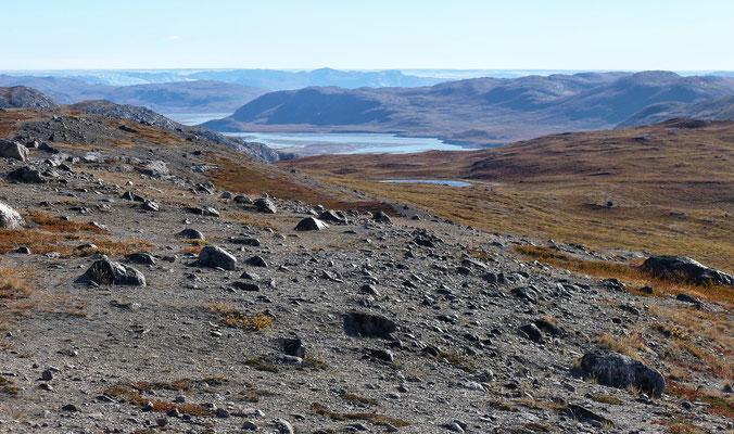 Blick zum Grönland Eis