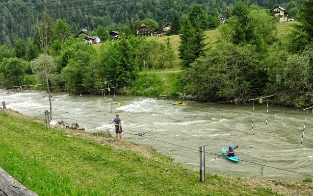 Wildwasser Slalom auf der Möll