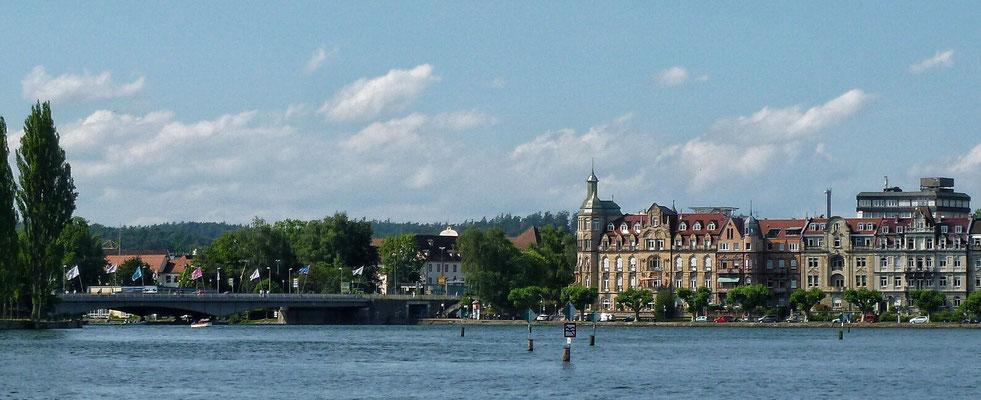 Der Rhein Abfluss aus dem Bodensee
