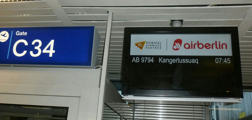 Abflug in Düsseldorf