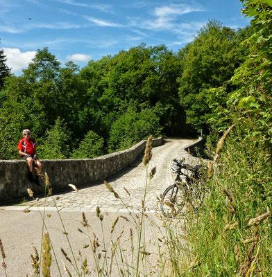 Auf der Römer Brücke bei Haslach