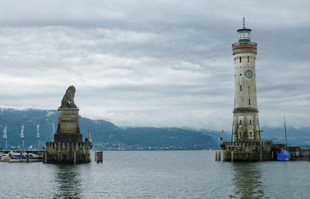 Hafen Einfahrt von Lindau