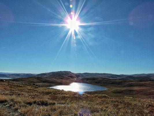 Sonne steht auch mittags tief