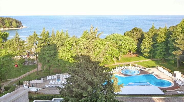 Blick von meinem Hotelzimmer am Morgen