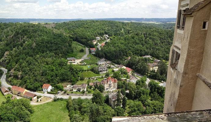 Blick auf den Ort Rosenburg