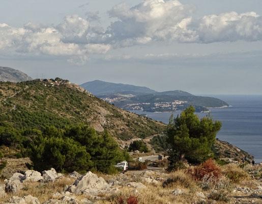 Blick nach Cavtat und den Flughafen
