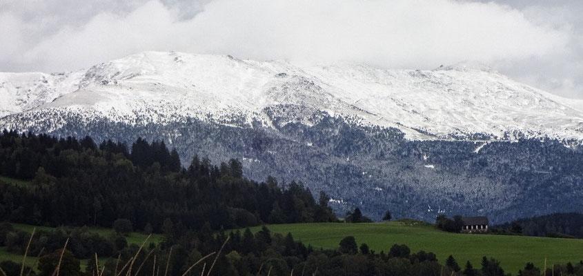 Schnee auf der Saualm