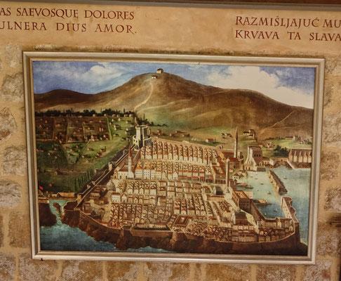 Alte Ansicht von Dubrovnik