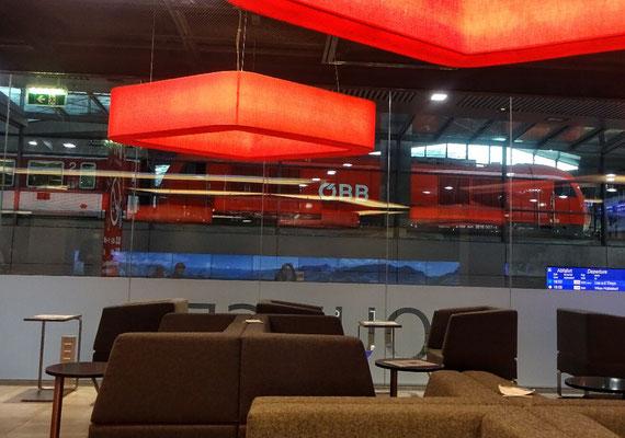 In der Lounge in Wien