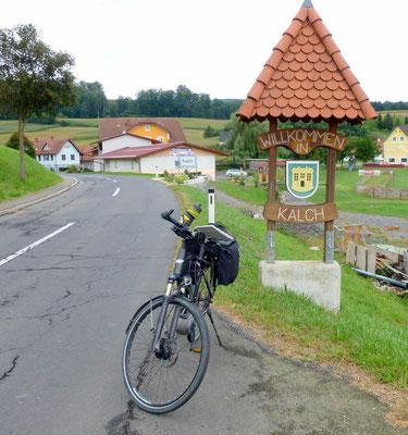 in Kalch endet der Burgenland Radweg