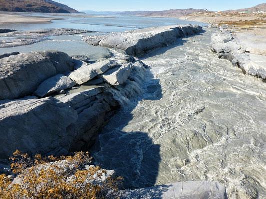 Gletscher Abfluss