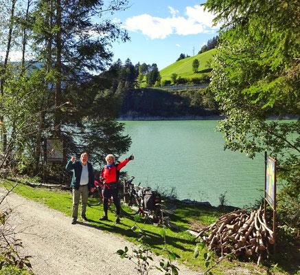 am Olanger Stausee in Südtirol
