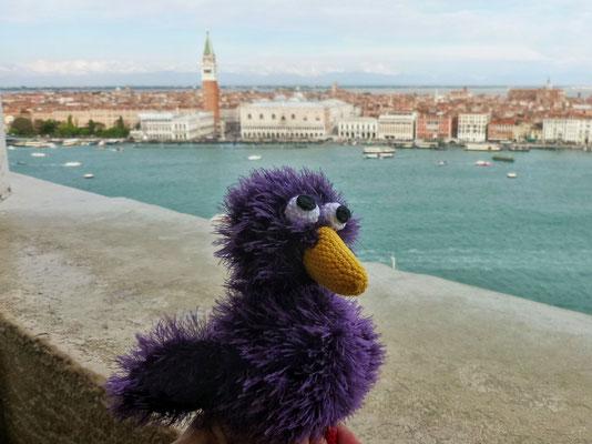 Lilly blickt auf Venedig
