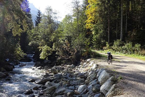 Schöner Radweg an der Taurach