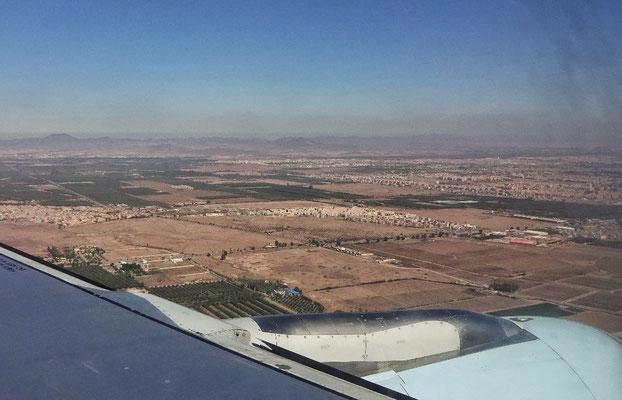Im Anflug auf Marakesch