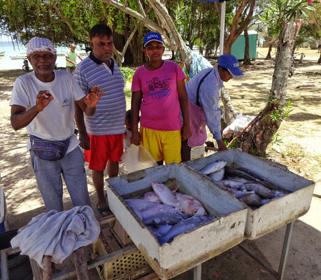 Fischer mit frischem Fang