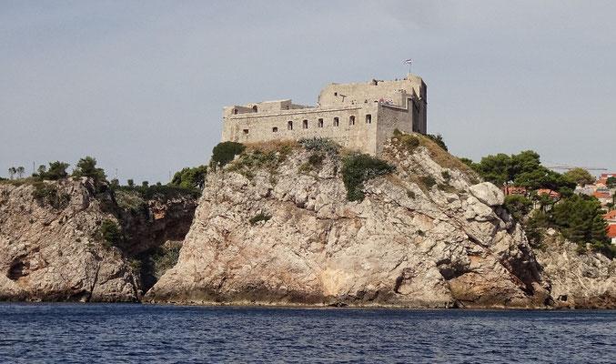 Festung Lovrjenac vom Meer aus
