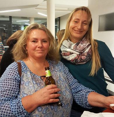Anita mit Bier