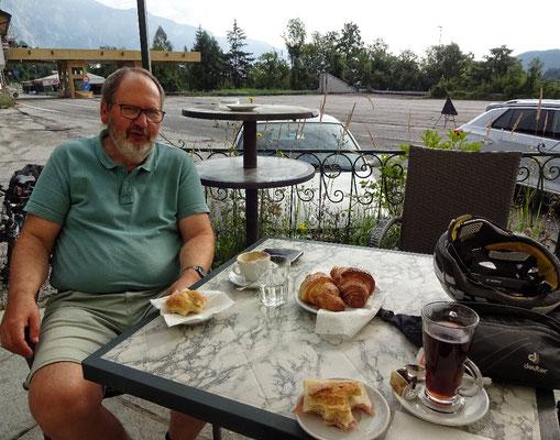 spartanisches Frühstück noch in Italien