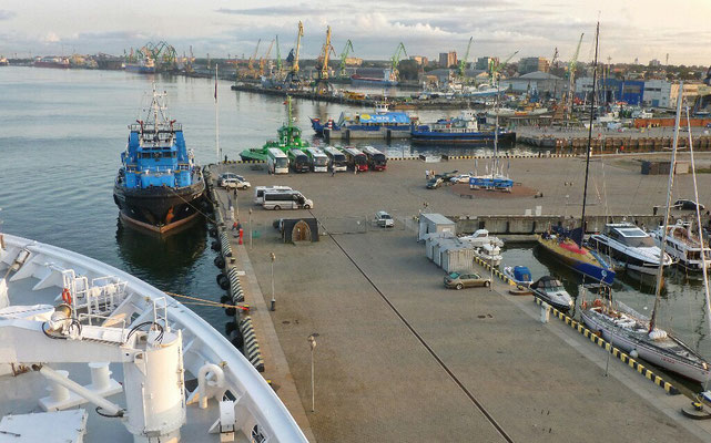 Ankunft im Hafen von Klaipeda
