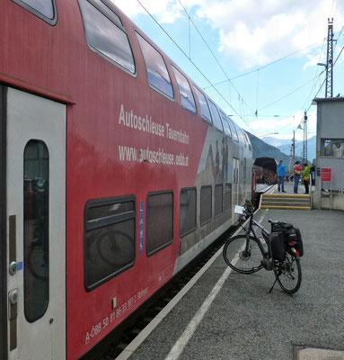 Bahnverladung in Mallnitz