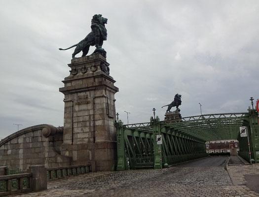Jugendstilbrücke über die kleine Donau