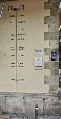 Hochwasser Marken in Passau