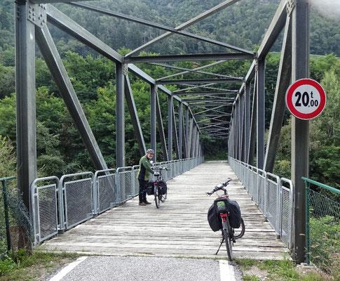 Auf der Radbrücke kann Franz noch zulegen