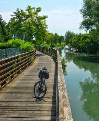 Ein perfekter Radweg in Cervignano