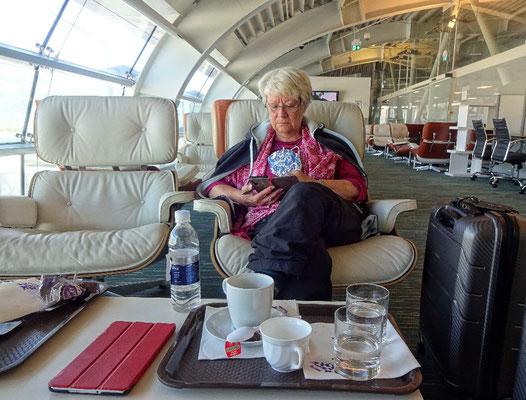 In der Lounge am Airport Dubrovnik