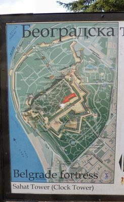 Plan der Stadt Festung