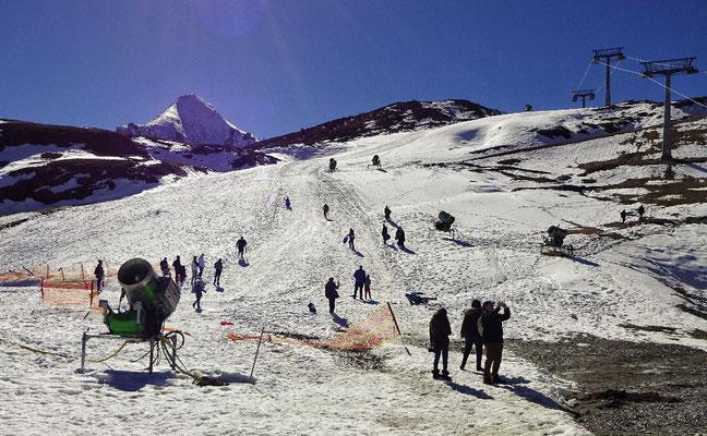 Viel los am Gletscher