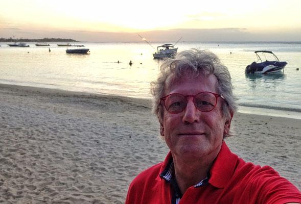 Der letzte Sonnenuntergang für uns auf Mauritius