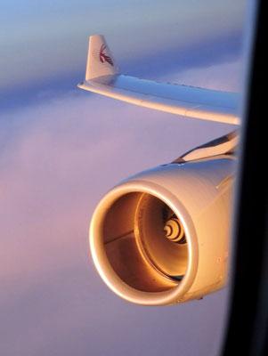 Morgentlicher Anflug auf Sri Lanka