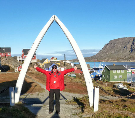 Kieferknochen eines Grönland Wals
