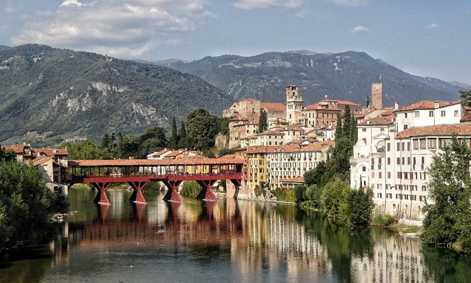 Die alte Brücke von Bassano del Grappa
