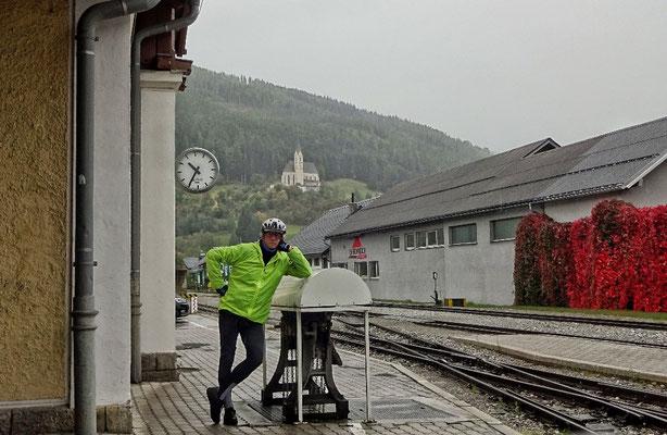 Abfahrt bei Regen in Tamsweg