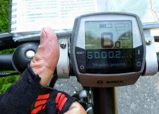 Der 6000.  km mit diesem Rad!!!